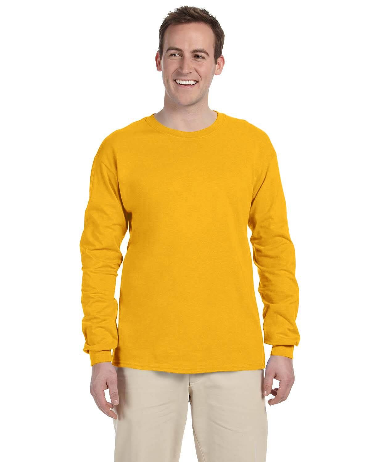 Fruit of the Loom Adult 8.3 oz./lin. yd. HD Cotton Long-Sleeve T-Shirt | 4930