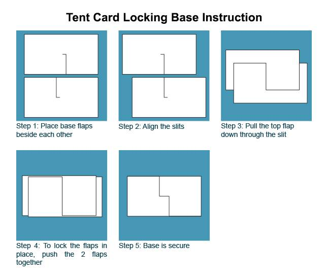 Tent Card Locking Base Instructions